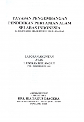 Auditor Report 2003