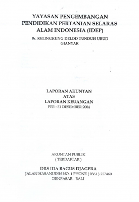 Auditor Report 2004