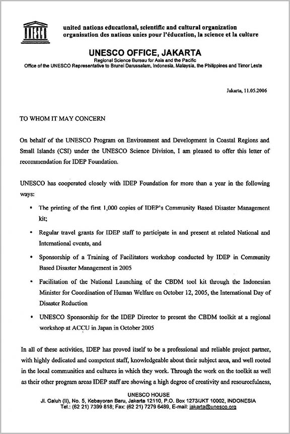 idep foundation official endorsement 01 unesco