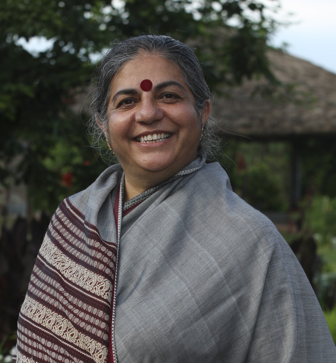 dr vandana shiva Photo credit: dr vandana shiva the green revolution did not save india from famine, as the proponents of industrial agriculture and gmo technology would argue, in fact the green revolution reduced india's production.