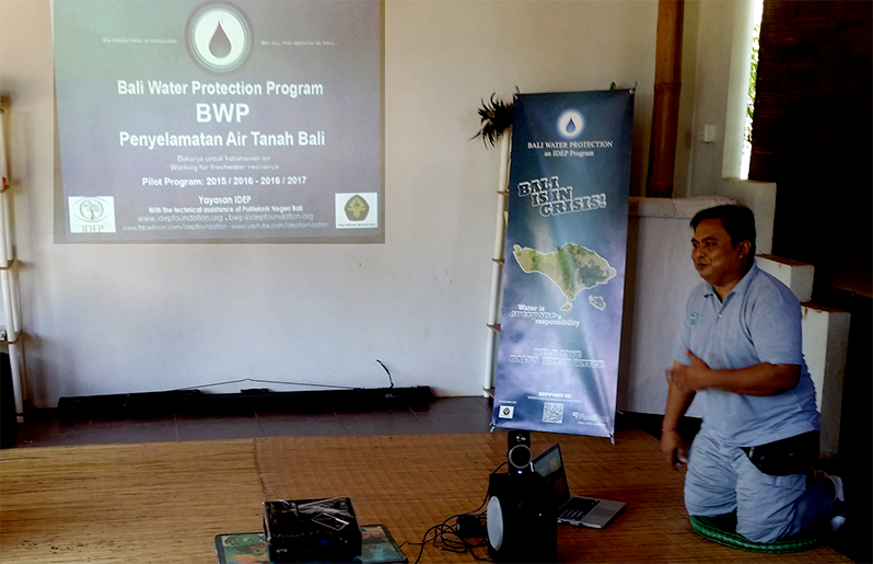 IDEP Bali Water Protection Program Recharge Well Inauguration